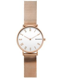 Skagen - Hald Gold Watch - Lyst