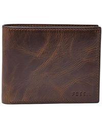 Fossil - Derrick Leather Bifold Wallet - Lyst
