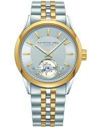 Raymond Weil - Freelancer Open Dial Watch - Steel/yellow - Lyst