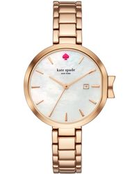 Kate Spade - Park Row Rose Gold-tone Watch - Lyst