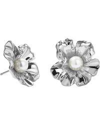 Meadowlark - Coral Pearl Earrings Medium - Lyst