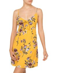 MINKPINK | Amalfi Tie Front Dress | Lyst