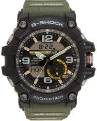 G-Shock - G Shock Mudmaster Twin Sens Blk/green Resin - Lyst