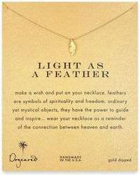 Dogeared - Gold Plated Light As A Feather Necklace - Lyst