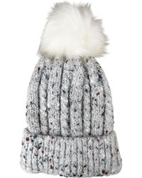 Morgan Taylor - Flecked Beanie Plus Pom - Lyst