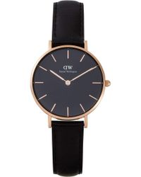 Daniel Wellington - Sheffield Black Dial Petite Leather - Lyst