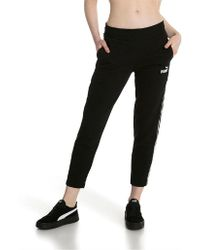 PUMA - Tape Trousers Tr Op Cotton - Lyst