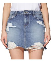Guess - Warp Stretch Bodycon Skirt - Lyst