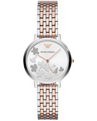 Emporio Armani - Women`s Two-tone Fashion Bracelet Watch - Lyst