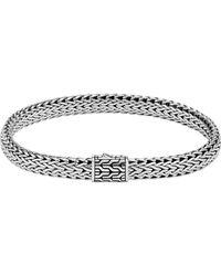 John Hardy - Classic Chain Silver Medium Flat Chain Bracelet - Lyst