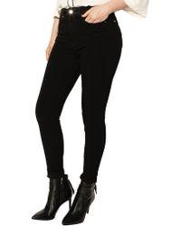 Karen Millen - Mid-rise Skinny Jeans In Black - Lyst