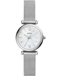 Fossil - Carlie Silver-tone Watch - Lyst