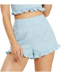 MINKPINK - In Time Chambray Frill Short - Lyst