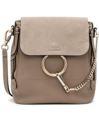 Chloé - Faye Backpack Mini Bagpack Mooth & Suede Calfskin - Lyst