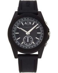 Armani Exchange - Drexler Black Hybrid Smartwatch - Lyst