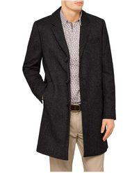 Ted Baker - 3 Button Herringbone Overcoat - Lyst