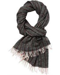 Scotch & Soda - Chic Woven Wool Scarf With Herringbone Pattern - Lyst