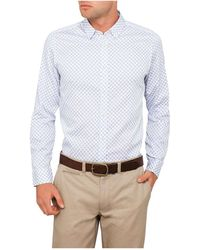 Ted Baker - Ls Hexagon Print Shirt - Lyst