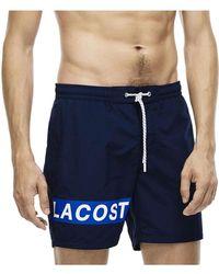 Lacoste - Block Logo Swim Short - Lyst