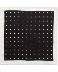 David Jones - Spot Pocket Square - Lyst