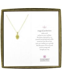 Dogeared - Magical Protection Open Hamsa Reminder Necklace - Lyst