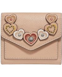 COACH - Small Wallet With Hearts - Lyst