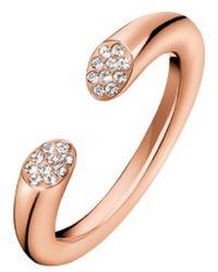 Calvin Klein - Pvd Ring With Swarovski Crystals - Lyst