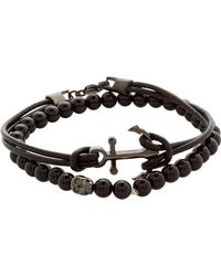 Simon Carter - Anchor Onyx Bracelet Set - Lyst