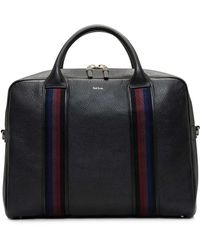 Paul Smith - City Webbing Pebbled Leather Slim Briefcase With Strap - Lyst
