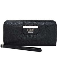 Guess - Bobbi Large Zip Around Wallet - Lyst