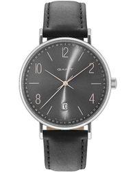GANT - Detroit Watch - Grey Dial, Black Strap - Lyst