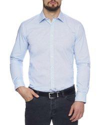 Geoffrey Beene   Waffle Iron Stretch Print Body Fit Shirt   Lyst