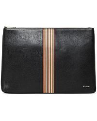 Paul Smith - Signature Stripe Leather Pouch - Lyst
