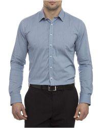 Geoffrey Beene - Beckham Micro Check Super Slim Fit Shirt - Lyst
