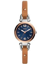 Fossil - Georgia Brown Watch - Lyst