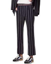 Sandro - Striped Wide-leg Trousers - Lyst