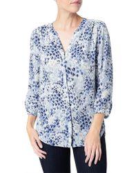 NYDJ - 3/4 Sleeve Pleat Back Shirt - Lyst
