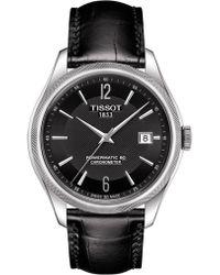 Tissot - Ballade/gr/cosc/steel/lea.black/black - Lyst