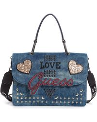 Guess - In Love Top Handle Bag - Lyst