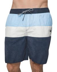 Coast - Panel Stripe Board Short - Lyst