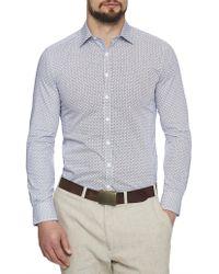 Geoffrey Beene - Big Sur Spot Body Fit Shirt - Lyst