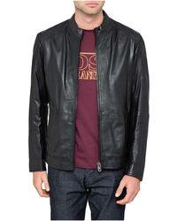 BOSS Orange - Leather Jacket - Lyst