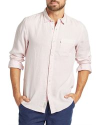 The Academy Brand - Hampton Linen Shirt - Lyst