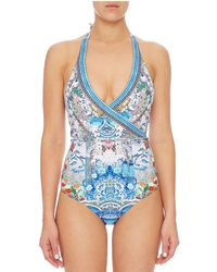 Camilla - Geisha Gateways Wrap Front Swimsuit - Lyst