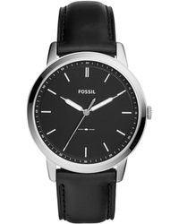 Fossil - The Minimalist 3h Black Watch - Lyst