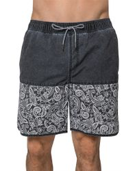 Coast - Floral Paisley Jet Board Short - Lyst