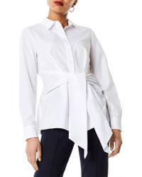 Karen Millen - Wrap Front Shirt - Lyst