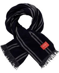 Scotch & Soda - Premium Selection Striped Woven Scarf In Soft Wool Quality - Lyst