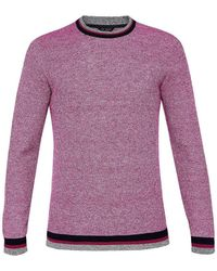 Ted Baker - Ls Textured Detail Crew Neck - Lyst