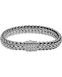John Hardy - Classic Chain Silver Large Flat Chain Bracelet - Lyst